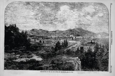 Harper's Weekly May 5th, 1866, The pastoral scene where the Fenian Raid took place
